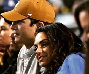 ashton kutcher, baseball, and couple image