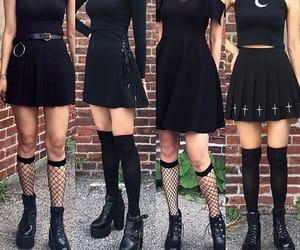 girl, botas, and black image