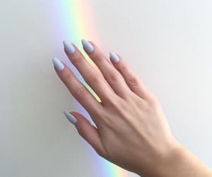 nails, rainbow, and beauty image