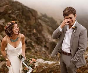 bride, groom, and happiness image