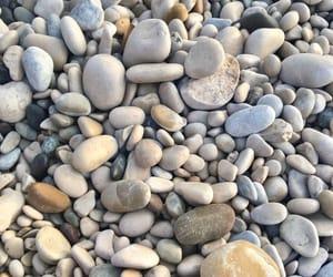 beach, stones, and white image
