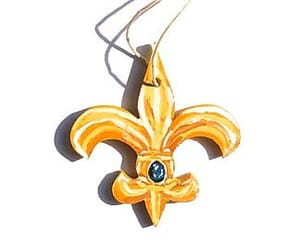 fleur de lis, french, and hand painted image