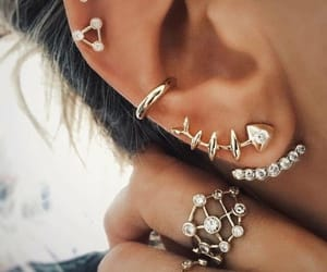 accessories, ear, and Piercings image