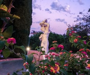 flowers, aesthetic, and statue image