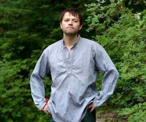 misha collins, castiel, and supernatural image