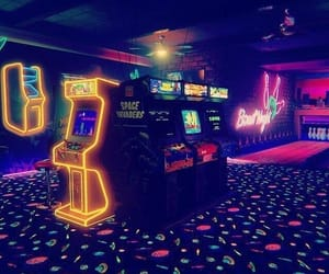 aesthetic, arcade, and neon image