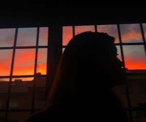 sun, sunset, and photo image