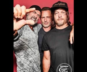 norman reedus, andrew lincon, and the walking dead image