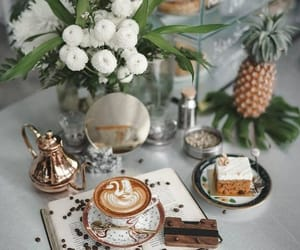 cake, coffee, and cappuccino image