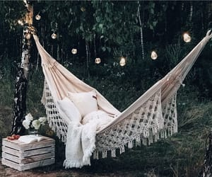 garden, hammock, and home image