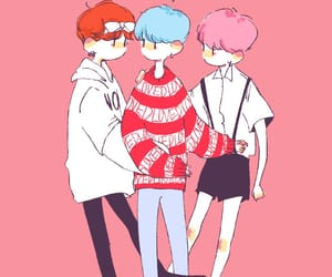 pink, bts, and suga image