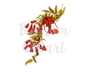 floral print, printable, and digital download image
