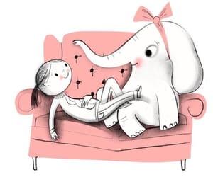 elephants and pink image