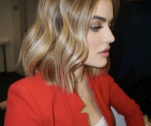 blonde, short, and lucy hale image