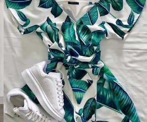 dress, fashion, and sneackers image