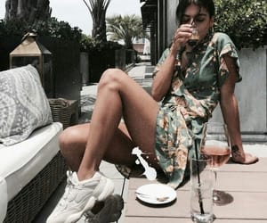 fashion, olive green, and outfit image