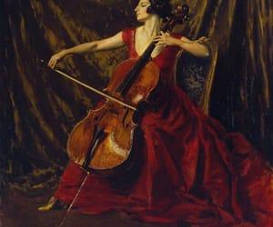 art, red dress, and beautiful image