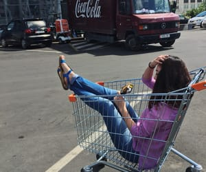 cart, coca cola, and travel image