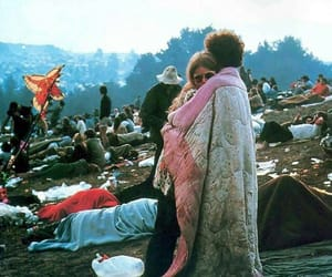 woodstock, hippie, and couple image
