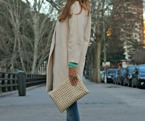 beige, fall, and fashion image