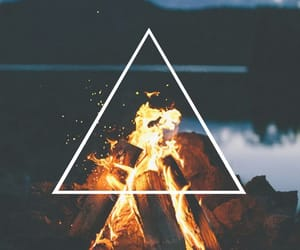 wallpaper, fire, and tumblr image