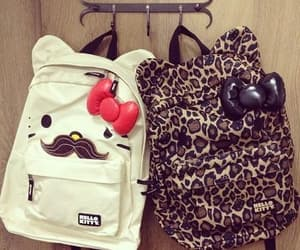 backpack, fashion, and girls image