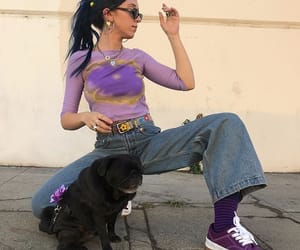aesthetic, dog, and outfit image