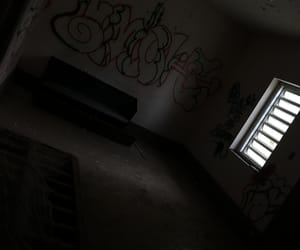 abandoned, abandoned building, and graffiti image