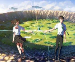 anime, movie, and kimi no na wa image