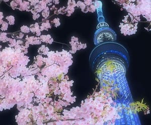 city, tokyo, and tower image