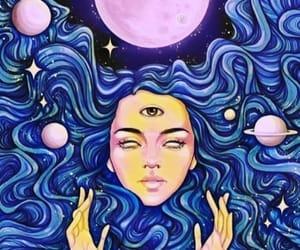 art, chakras, and girl image