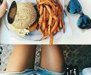 burger, French Fries, and hamburger image