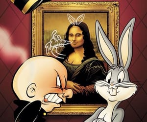 art, mona lisa, and elmer image