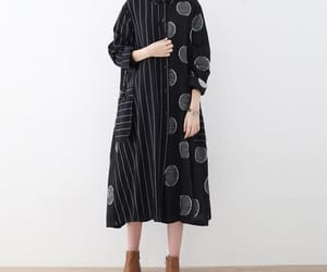 black dress, maxi dress, and etsy image