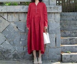 etsy, linen dress, and cotton dress image