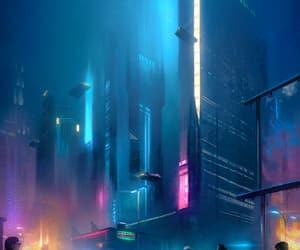 city, cyberpunk, and futurism image