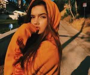 girl, orange, and beauty image