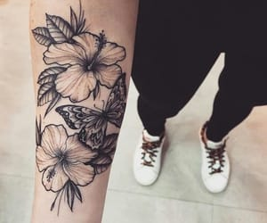 flowers, tattoo, and ink image