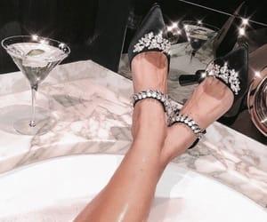 bathtub, heels, and aesthetic image