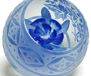 art glass, blue, and british image