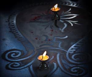 blue, mandala, and candle image