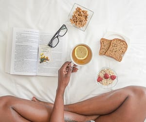 book, cozy, and food image