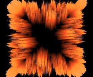 black, orange, and wallpaper image