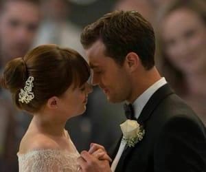 wedding, christian grey, and dakota johnson image