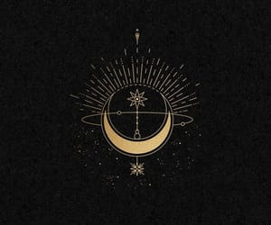 black, card, and moon image