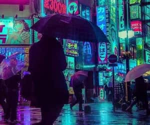 lights, neon, and toyko image