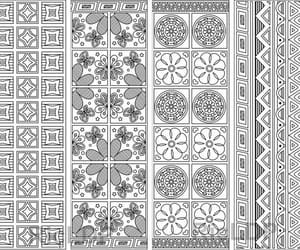 abstract pattern, coloring bookmarks, and digital doodles image