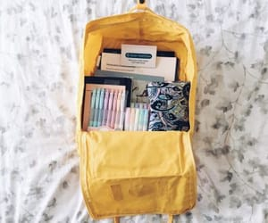 backpack, fjallraven kanken, and school things image