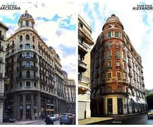 Barcelona, city, and alexandria image