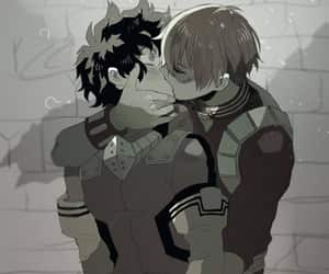 kiss, mha, and midoriya image